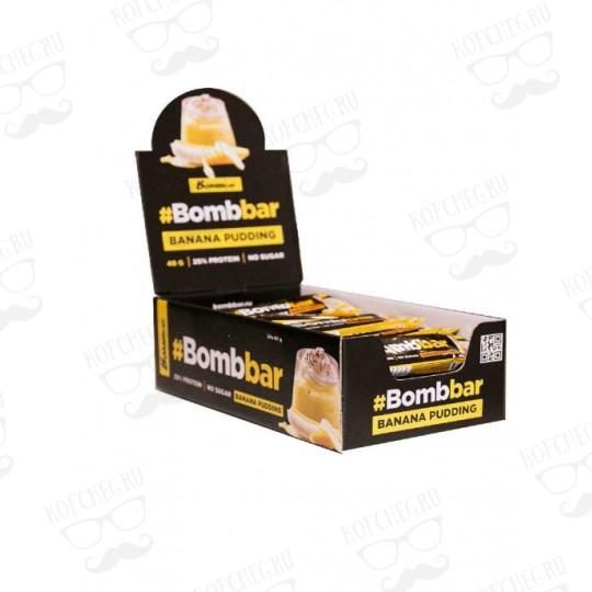 Батончик глазированный BOMBBAR Банановый пудинг (40г)