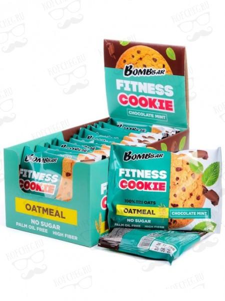 Печенье BOMBBAR неглазированное овсяное Шоколад-Мята (40г)