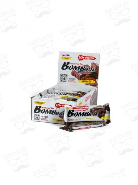 Батончик неглазированный BOMBBAR Двойной шоколад (60г)