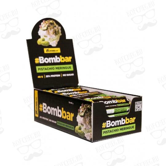 Батончик глазированный BOMBBAR Фисташковая меренга (40г)