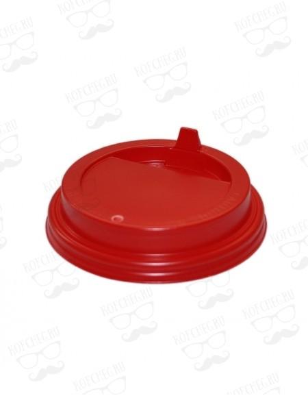 Крышка для бумажных стаканов с клапаном 80 мм (Красная)
