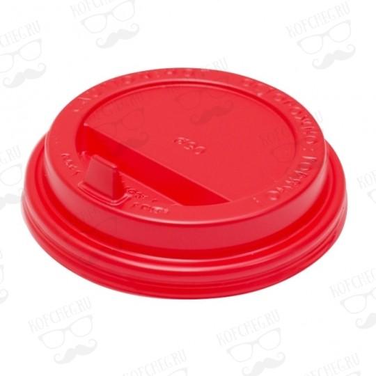 Крышка для бумажных стаканов с клапаном 90 мм (Красная)
