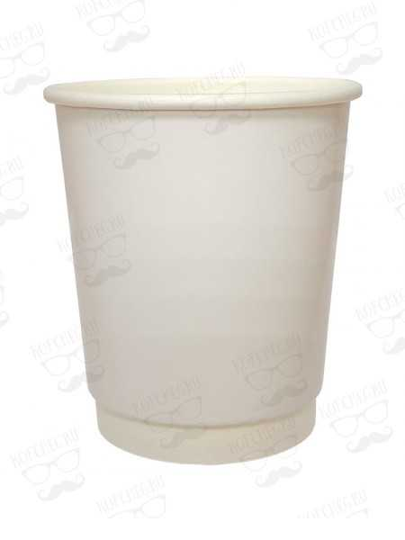Стакан бумажный двухслойный 250 мл белый