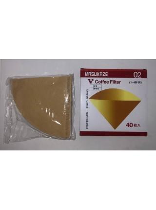 Фильтры бумажные для кофе Masukaze 02, 40 шт/уп
