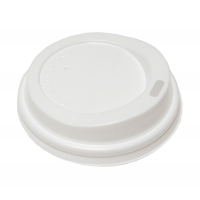 Крышка для бумажных стаканов с питейником 80 мм (Белая)