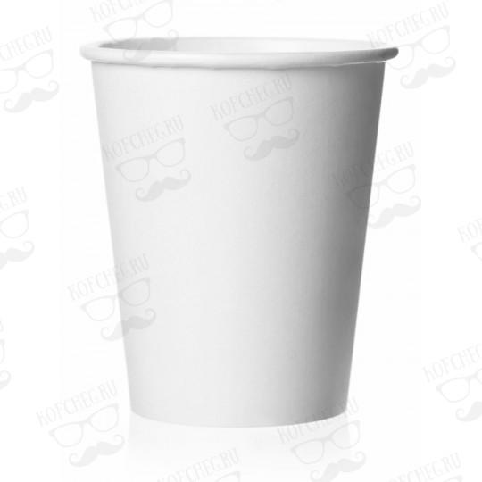 Стакан бумажный одноразовый белый 400 мл