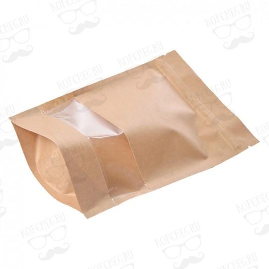 Крафтовый пакет с окошком.