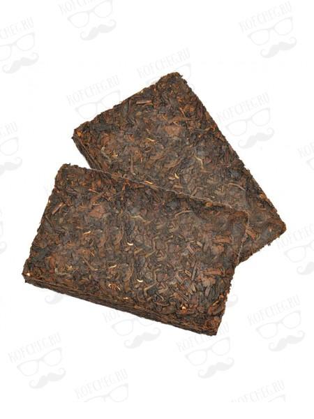 Шу Пуэр в форме шоколада Китайский многолетний чай, плитка 2 шт. по 100гр.