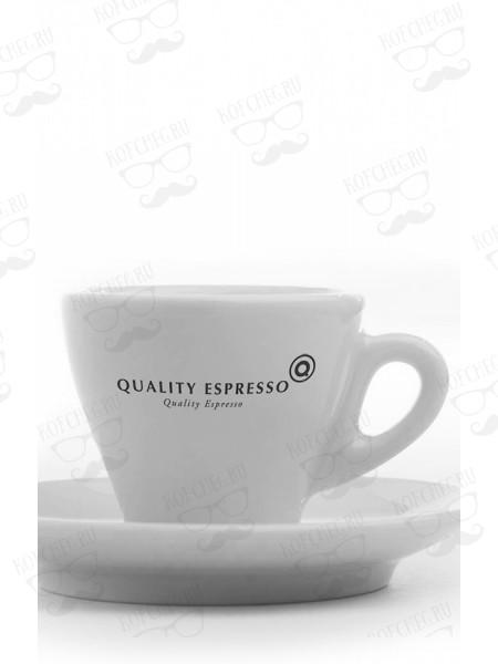 Кофейная пара эспрессо - чашка и блюдце с логотипом Quality Espresso