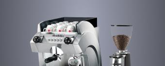 Одногруппная кофемашина и кофемолка
