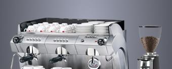 Двухгруппная кофемашина и кофемолка